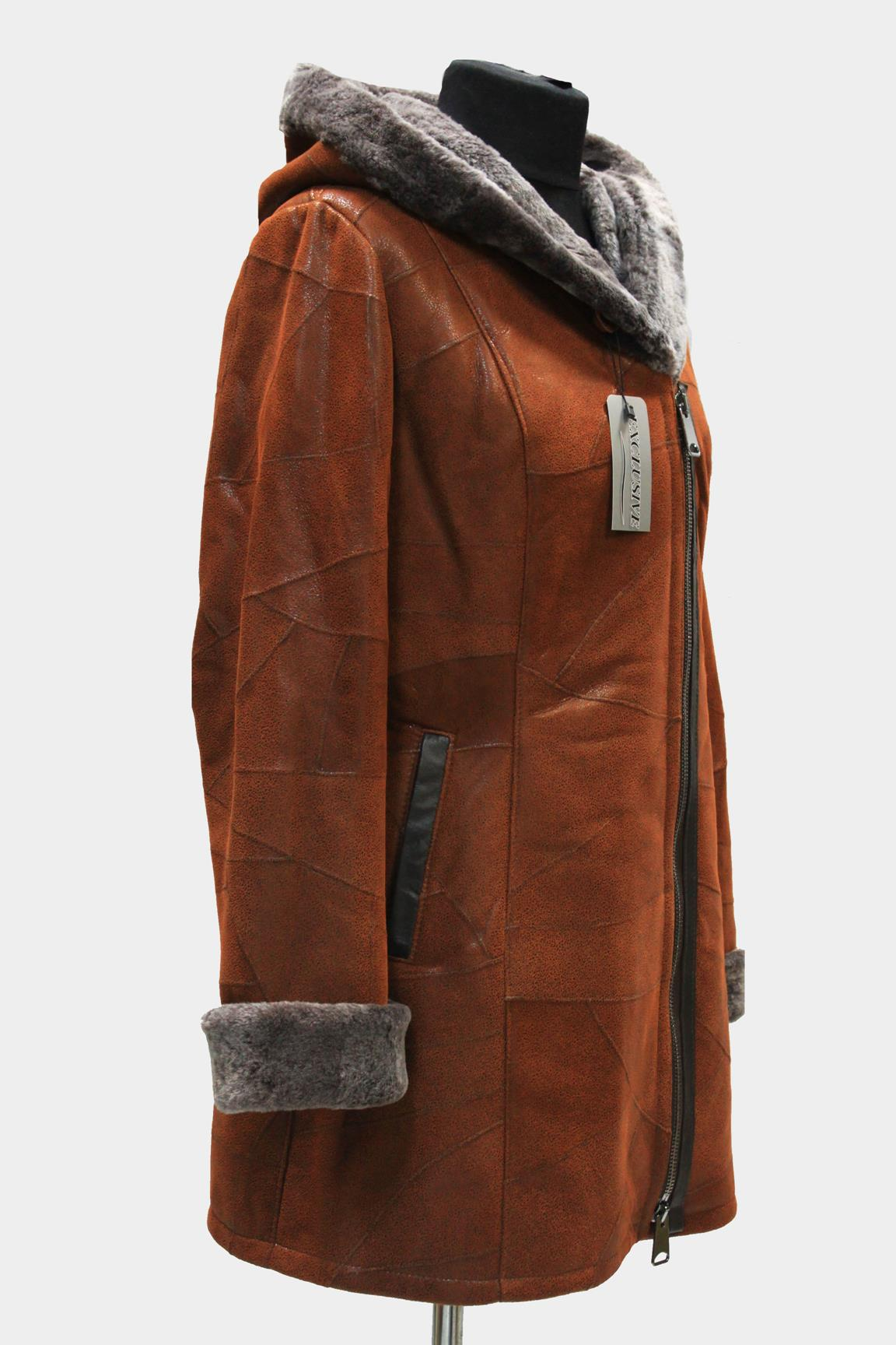 kożuch kurtka futro jorfa czerwony kozuch